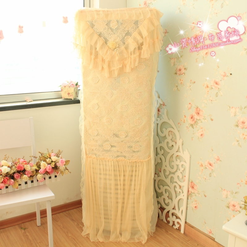 Condition cover vertical packaged air conditioner sheathers fabric lace fashion cabinet air conditioner dust cover(China (Mainland))