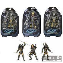 "3styles Movie TV AVP Aliens VS Predator Series Scar Predator Chopper cool PVC Action Figure Collectible Model Toy 7""(China (Mainland))"
