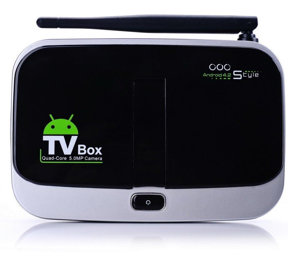 High quality CS918S Quad Core Smart TV Box Miracast DLNA HDMI Media Player 2GB Ram16GB Rom 5.0MP Webcam Camera Bluetooth 4.0(China (Mainland))