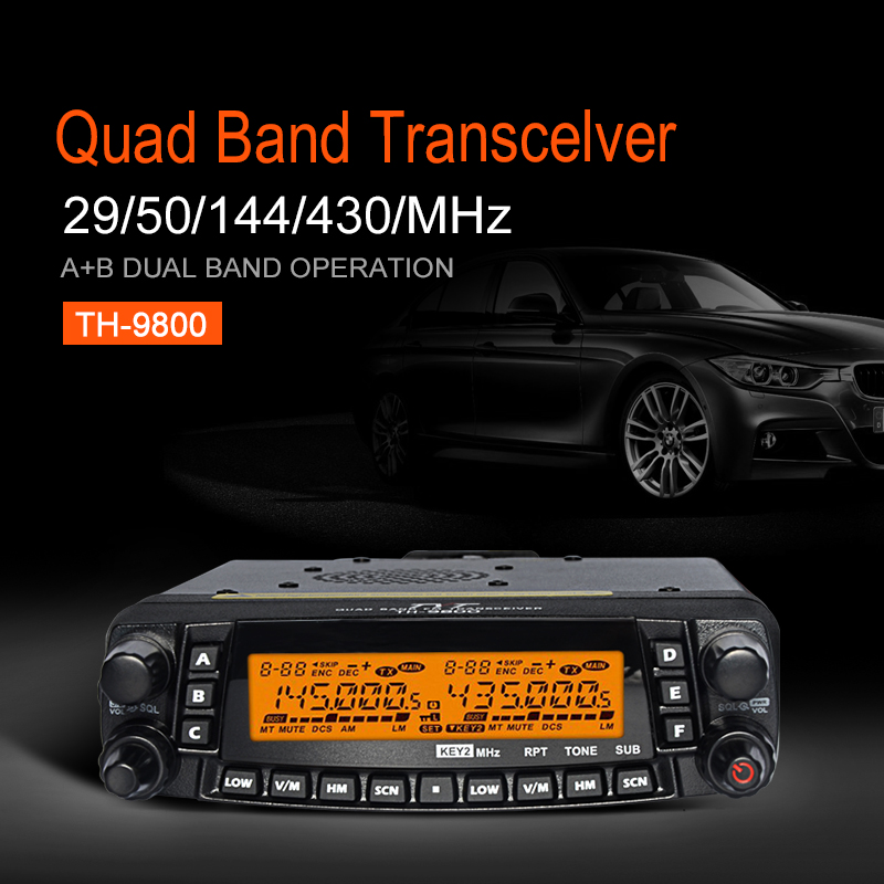 TYT TH-9800 Mobile Transceiver Car Radio Station Quad Band CB Radio Cross Band 50W Long Distance Car Walkie Talkie Ham Radio(China (Mainland))