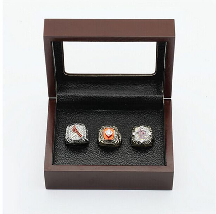 Gorgeous Ring sets with Wooden Boxes Replica Baseball Copper 3pcs Louis Cardinals sports Men Championship Ring/necklace/earrings<br><br>Aliexpress