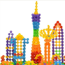 150pcs Hot Sale Kid Baby Educational Toys Multicolor Snowflake Creative Building Blocks For Child DIy Assemblage Toy(China (Mainland))