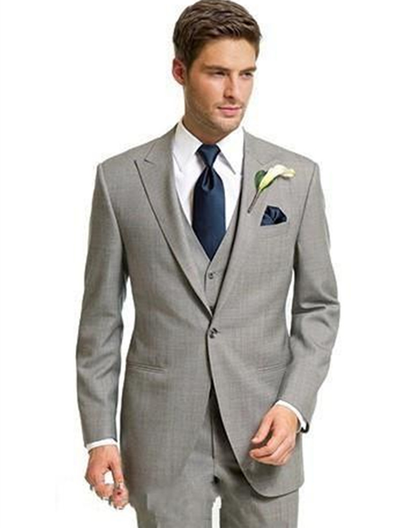 wedding suits men groom wear light gray three piece suits man groom tuxedo classic suits free
