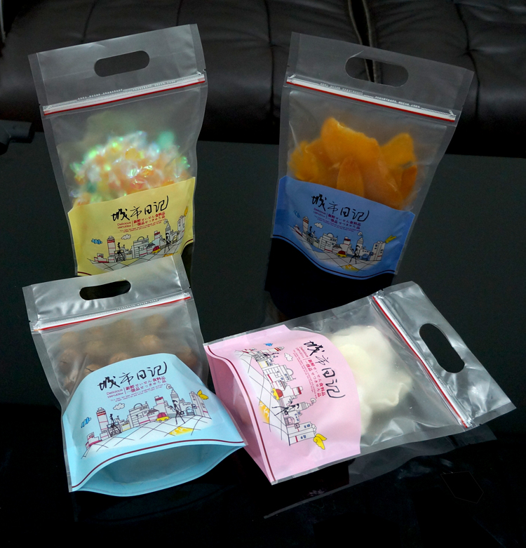 "15*22CM (5.91*8.66"") 50PCS New Zipper Top Plastic Bags Stand Up Pouch With Handle Packaging For Cookies Candy Gift For Children(China (Mainland))"