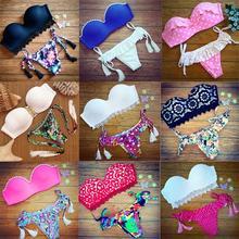 New Fashion Sexy Women Bikinis Push up Bikini Set Brazilian Beach font b Swimwear b font