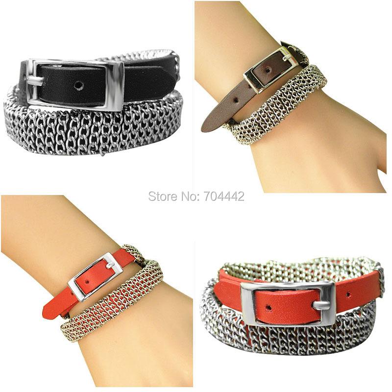 2014 new Fashion Woman Nomination Leather Bracelet Charm Handmade Tennis Hippie Bracelets Jewelry Gift(China (Mainland))