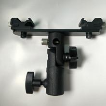 Photo Studio Accessories 180 Degree Rotating Dual Shoe Flash Bracket for Flashgun Digital DC Camera Arms Bracket and Light Stand