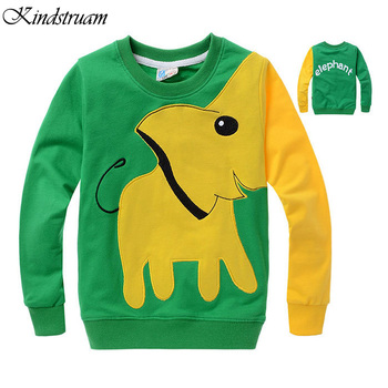 2016 Cartoon Kids Hoodies Elephant Design Boys & Girls Spring Hoody Top Quality Children's Autumn Wear Brand Clothes, HC738