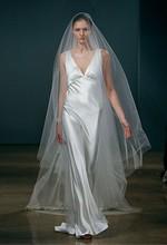 Free shipping online wholesale&retail charmeuse wedding dress Silk dresses Kelis(China (Mainland))
