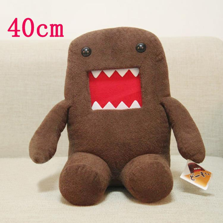 Big Size 40cm Sitting Domo Kun Plush Toy Soft Stuffed Toy Domokun Funny Domo Kun Doll Creative Gift Domo Kun Plush Toys for Kids(China (Mainland))