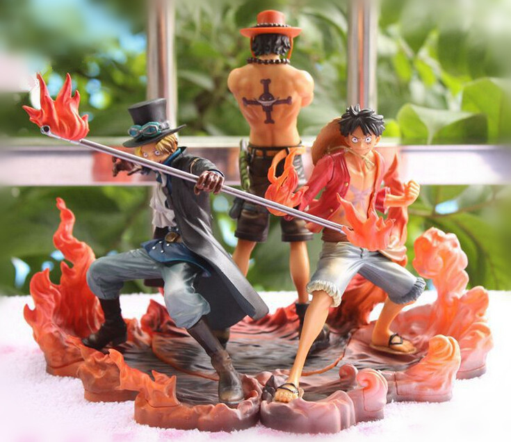 One Piece Figure Japanese Anime Figure Ace Luffy Sabo One Piece Action Figure Pvc Cartoon Figurine One Piece Anime Toys Juguetes(China (Mainland))