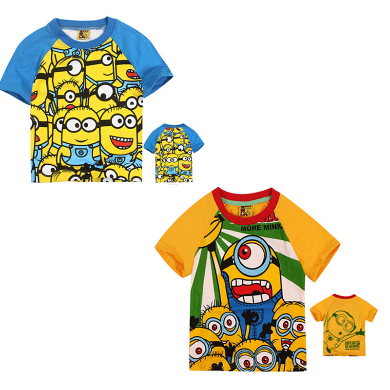 newest kids boys minions t shirt lovely child summer. Black Bedroom Furniture Sets. Home Design Ideas