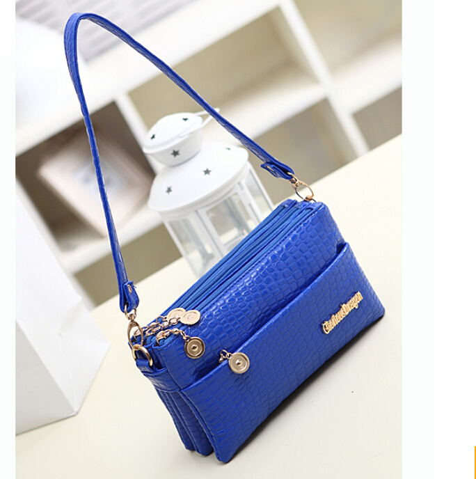 new production 17 color Women Messenger Bag fashion Women Handbag Desigual brand Women Clutch wallet and genuine leather bag(China (Mainland))