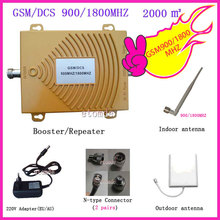 GSM Booster 900MHZ DCS1800MHZ Repeater With Antenna Connector Dual Band Signal Amplifier RF Repeater Kit for Mobile Phone Signal(China (Mainland))