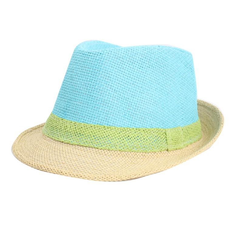 Fashion Patchwork Sun Hats For Women Brim Summer Beach Straw Visor Cap Candy Color(China (Mainland))