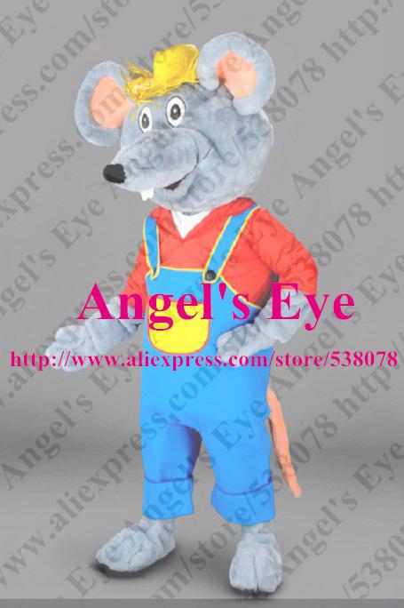 Custom Mascot Farmer Mouse Mascot Costume Adult Size Cartoon Character Rat Mascotte Mascota Fancy Dress SW1340(China (Mainland))