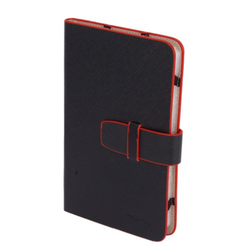 BSBL New 7-inch RED Trim Leather Case_Android Tablet PC_MID/NOVO7/ePad/Superpad(China (Mainland))