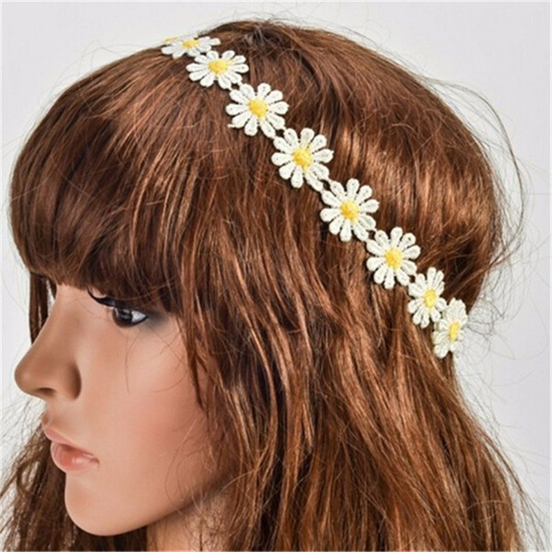 Promotion Women Bohemian Headband Trendy Hair Accessories Beach Elastic Sun Flower Headbands for Women SA011(China (Mainland))