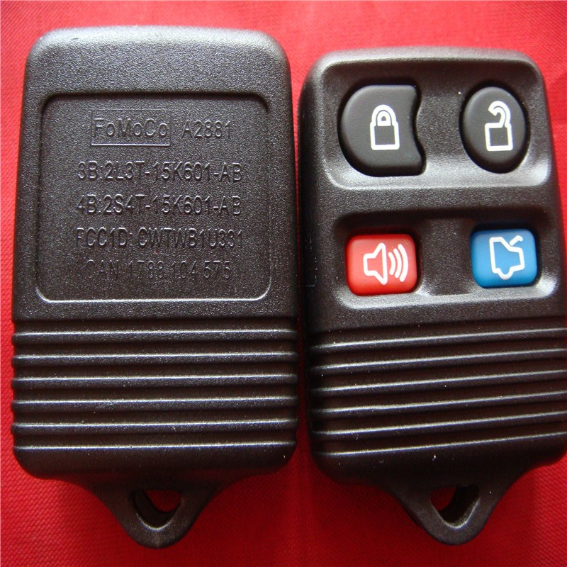Free Shipping ford 433 mhz remote New Remote Entry Replace Key for FORD MAZDA MERCURY 4 Button Transmitter Key 433mhz(China (Mainland))