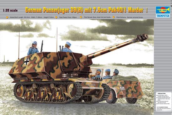 Trumpeter model 00354 1/35 German Panzerjager 39(H) mit 7.5cm Pak40/1 Marder I(China (Mainland))