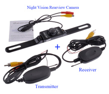 Wireless Parking Camera Assistance System, Night visionCar Rear View Camera + 2.4GHz Wireless RCA Transmitter Receiver Video Kit(China (Mainland))
