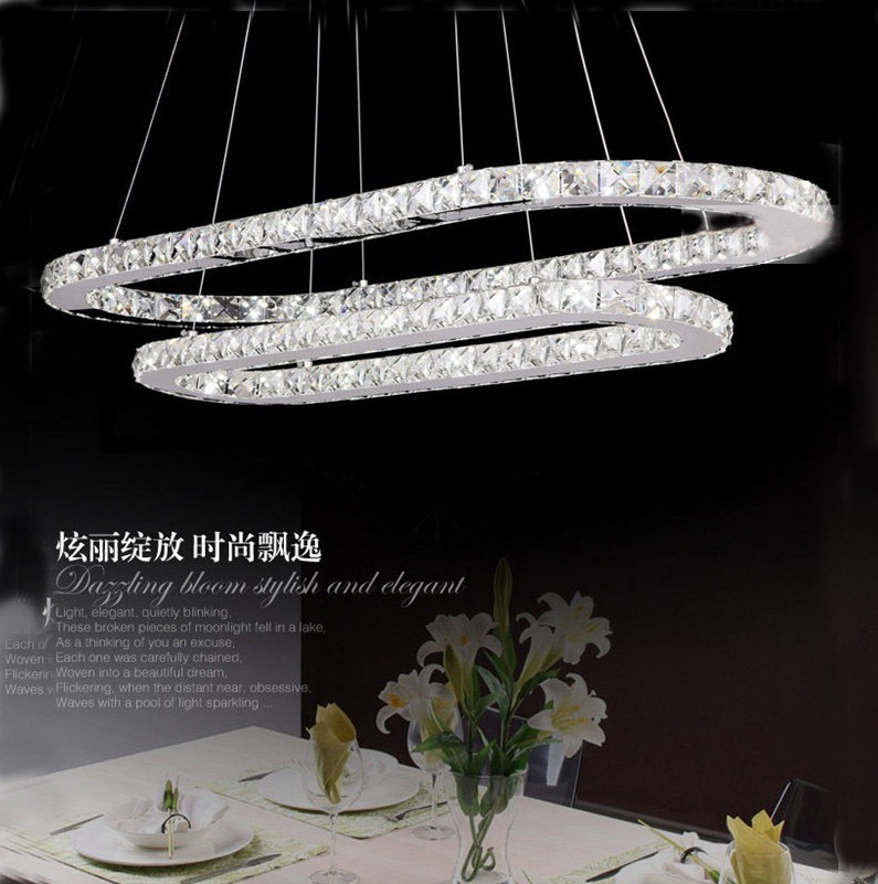 2013 new design 75*40cm+ 55*21cm two ring can make one ring led home lamp suitable for dinner room living room free shipping(China (Mainland))