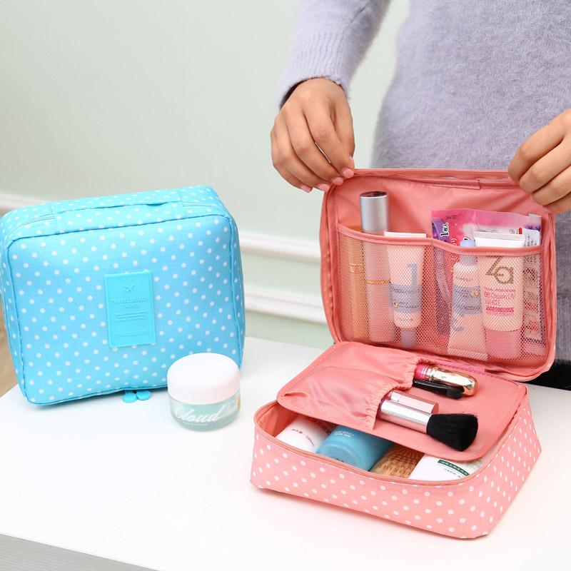 Korean Brand Design large-capacity multi-function travel cosmetic bag waterproof Makeup Make Up Wash Tool Organizer Storage bags(China (Mainland))