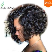 Curly Bob Wig Glueless Full Lace Human Hair Wigs Short Human Hair Lace Front Wigs Black Women Upart Brazilian Bob Human Hair Wig(China (Mainland))