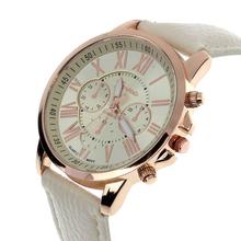 2015 New Fashion Ladies Watches Roman Numerals Faux Leather Women Watch Analog Quartz Watches Women Men