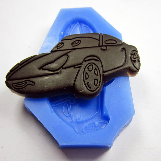 2014 Seconds Kill Hot Sale Rubber Moulds Fda Stocked Chocolate Cake Candy Cookie Mould Car Sports(China (Mainland))