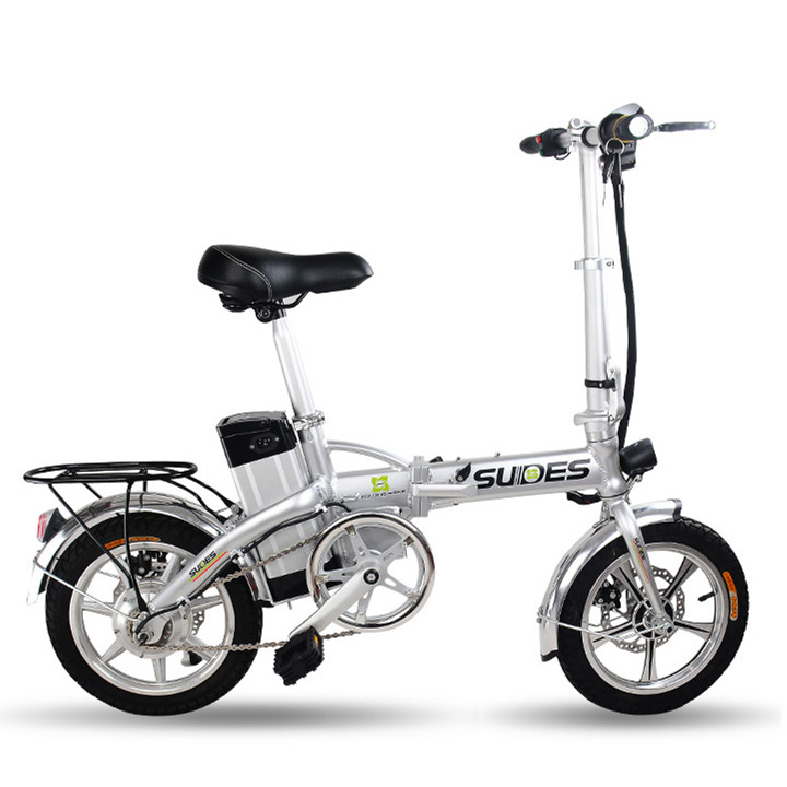 New 2016 X-Front Brand Foldable Electric bicycle 14 inch Mini Cool Cycling 15A E-Bike disc brake lithium battery electric bike(China (Mainland))