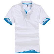 Новый мужской Рубашки Поло Для Мужчин Поло Мужчины Хлопок Короткие рукава рубашки Одежды трикотажные golftennis Плюс Размер XS-XXL 3XL homme()