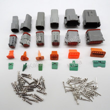 6 sets 6 models Deutsch DT06/DT04 2/3/4/6/8/12 Pin Engine/Gearbox waterproof electrical connector for car,bus,motor,truck(China (Mainland))