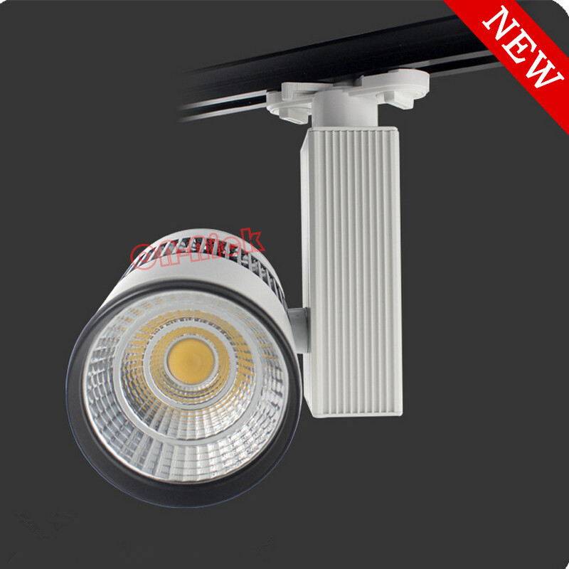 High quality cob led track lighting 30w 40w 50w ac85 265v for Modern led track lighting