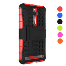Cases Covers ASUS Zenfone 2 ZE551ML Armor Dual Layer Rugged Hybrid Grip Hard Stand Cover Case Smart Phone Holder - Onfine Leo store