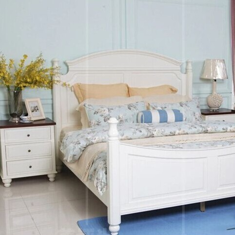 American White Oak Import Atmosphere Wood Bedroom Furniture Double Beds Bedsi