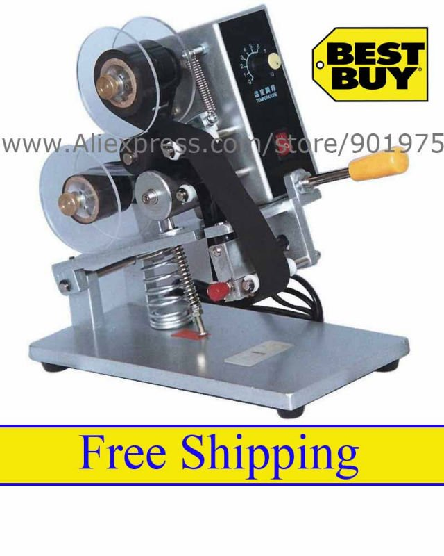 Desktop Manual Hot Stamp Date Coder, + Price - Shenzhou Packing Machine Co., Ltd. store