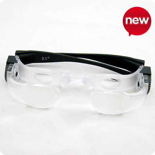 New 2 1X MaxTV Adjustable Spectacles Magnifying Binocular Glasses 8105 w Hard Case for Watching TV
