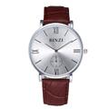 Super slim quartz watch reloj hombre fashion leather Nylon watch Brand BINZI factory prices men watches