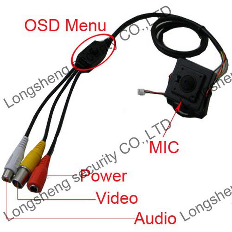 Mini HD 2.5mm Pinhole Sony 700TVL A/V 100 Degree OSD Menu Box CCTV Color camera Audio Output(China (Mainland))