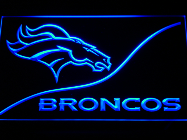 b502 Denver Broncos LED Neon Sign with On/Off Switch 7 Colors to choose(China (Mainland))