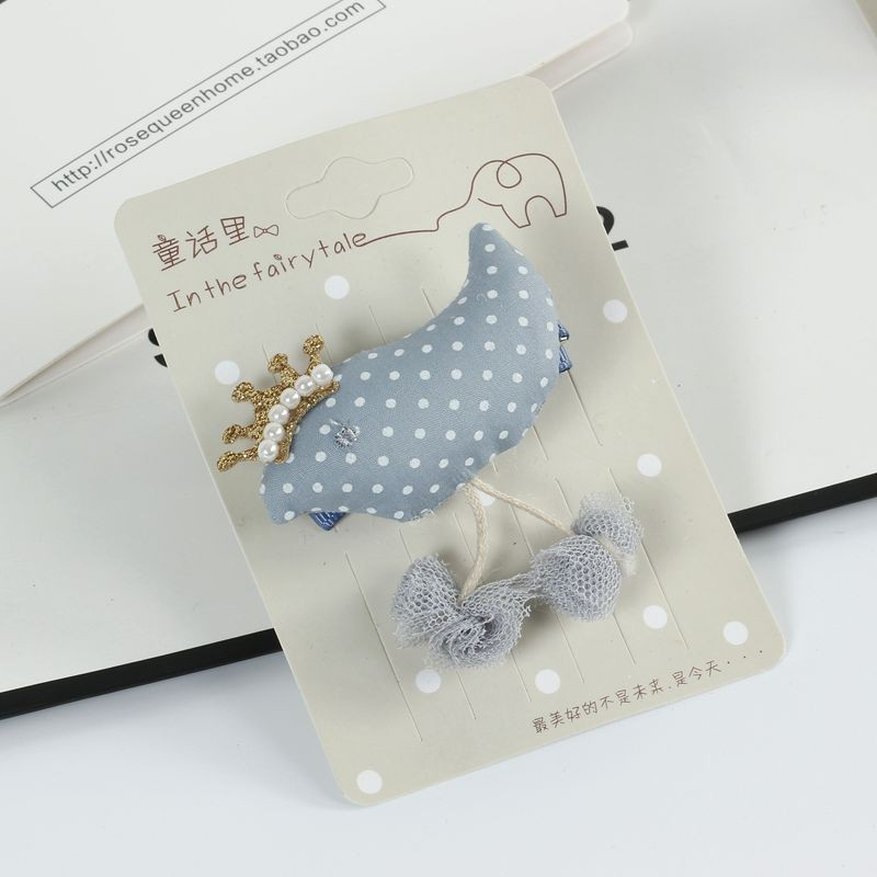 2017 2pcs/lot Baby Girls Hairpins Cute Sweet Bird Hairwear Kids Hair Clips High Quality Fabric Art Children Hair Accessories