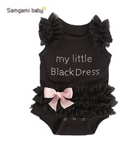 2016 Newborn baby girls Romper children's clothes summer suit children Europe clothing Lace Bow Triangle climb Jumpsuits 1-2Y