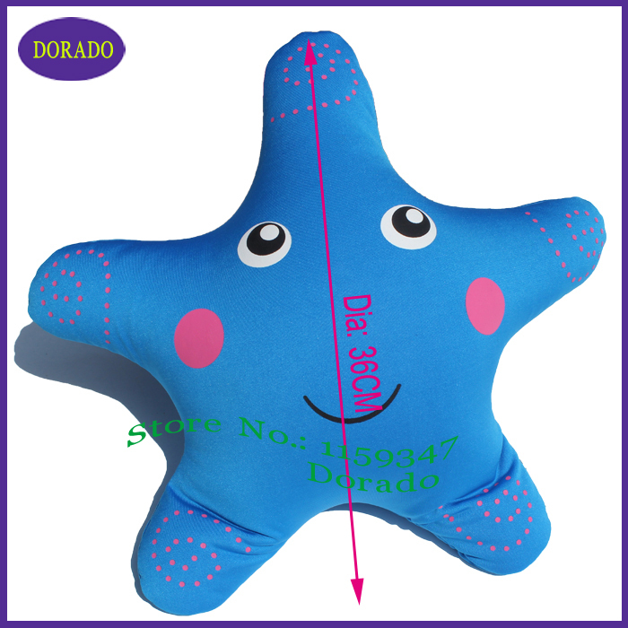 Free shipping 36cm Simulation Starfish lovely pillow Animals Toy Cushion Pillow Kids Children Gift pillow Toy(China (Mainland))