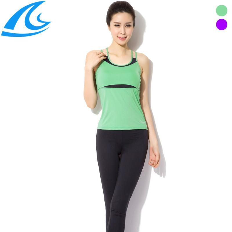 Vest Leggings Pants Dance Running Gym Workout Wear Clothes Fitness Clothing Women's Training Suit Sports Sportswear Yoga Set - He & She Trade Co., Ltd. store