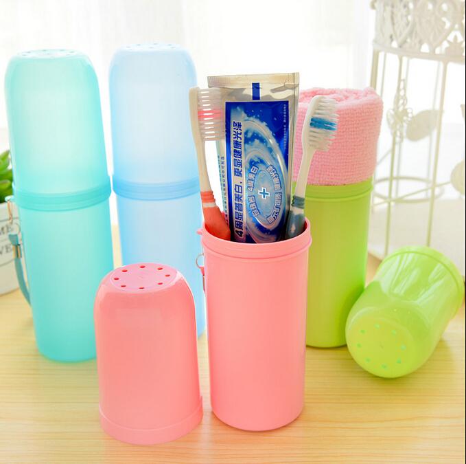 2015 Creative home storage box Travel portable anti-bacterial toothbrush box free shipping(China (Mainland))
