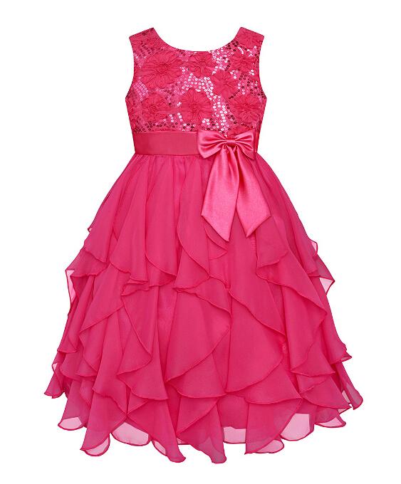 20150Summer clothes baby gilrs Sequins princess dress girls party dress sleeveless kids clothes free shipping(China (Mainland))