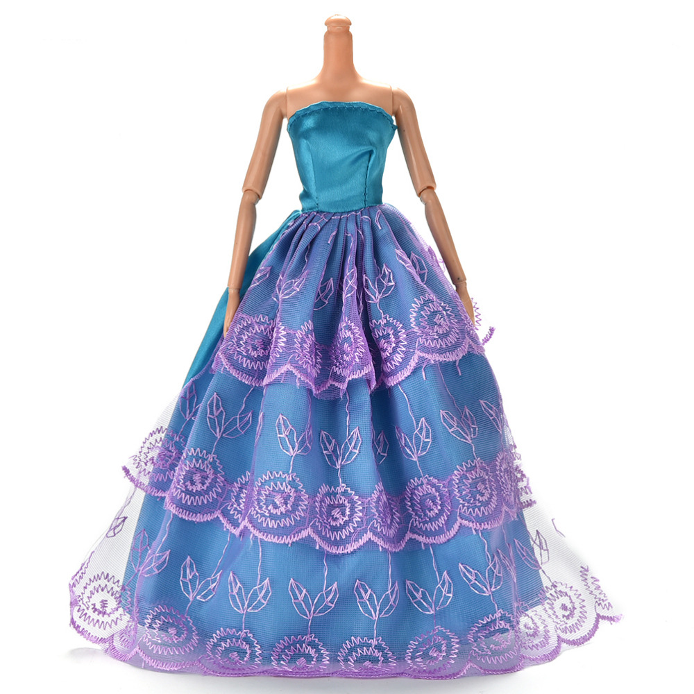 New Hot Outfit Best Gift For Girl' DollPrincess Wedding Dress Noble Party Gown For Barbie Doll Fashion Doll Accessories(China (Mainland))