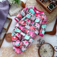 Baby clothing 2015 spring autumn bebes Newborn baby girl rompers with long sleeve polar fleece fabric