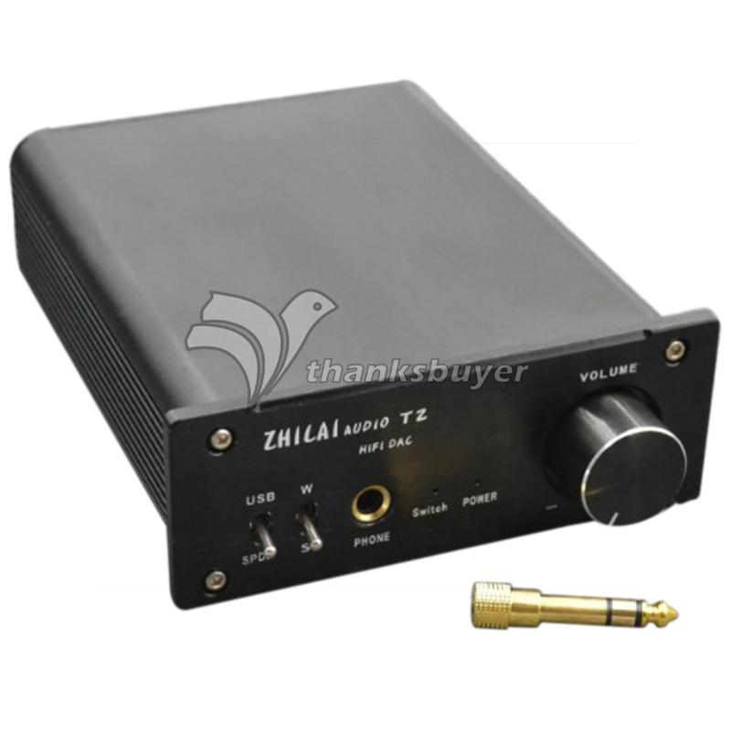 ZHI LAI T2 Desktop Computer HiFi Decoder USB Sound Card Amp Fiber Coaxial Input DAC <br><br>Aliexpress